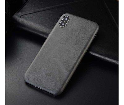 ShieldCase® Shieldcase iPhone X / Xs hoesje leer (grijs)