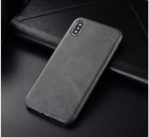 ShieldCase® Shieldcase iPhone Xr  hoesje leer (grijs)