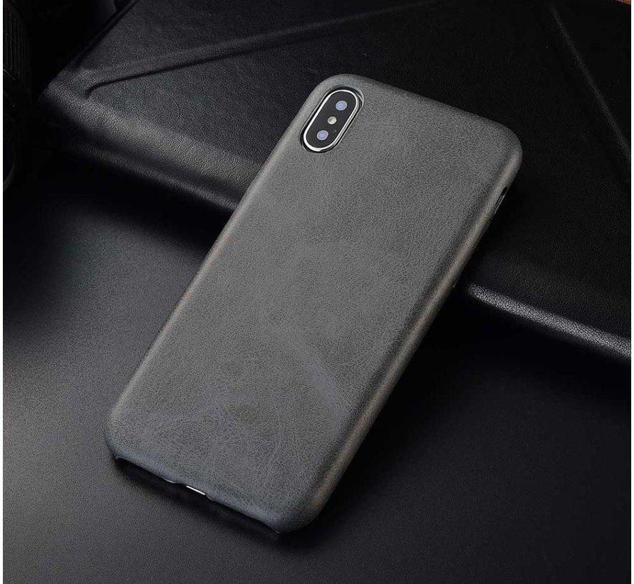 Shieldcase iPhone Xr  hoesje leer (grijs)