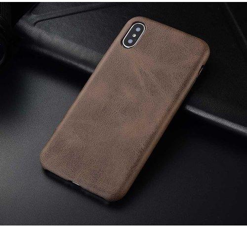 ShieldCase® Shieldcase iPhone Xr hoesje leer (bruin)