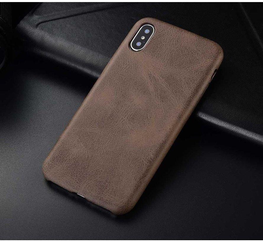 Shieldcase iPhone Xr hoesje leer (bruin)