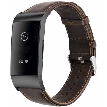 Fitbit Charge 3 bandjes leer