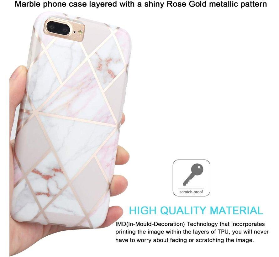 ShieldCase iPhone 8 Plus / 7 Plus hoesje marmeren patroon