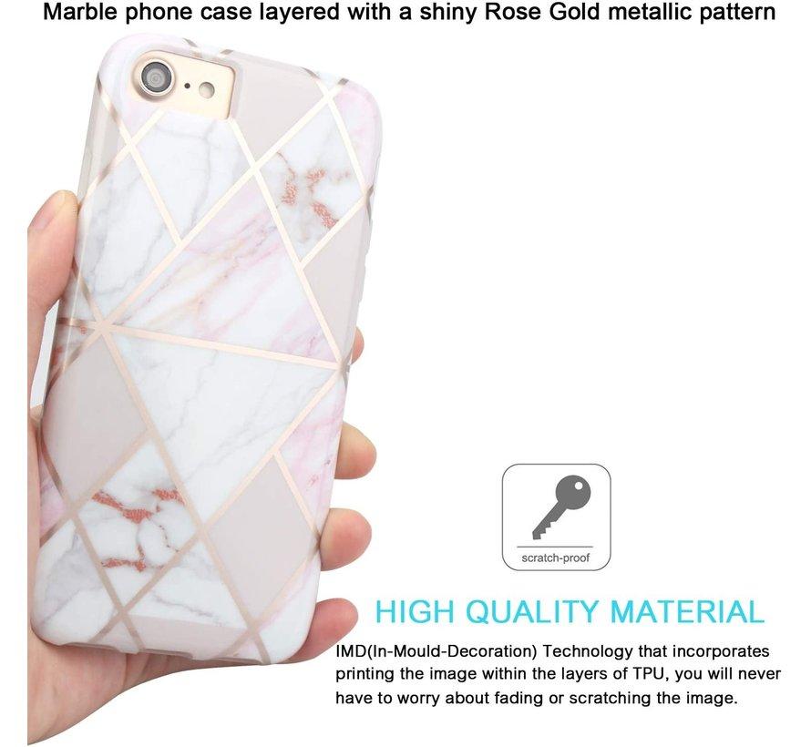 ShieldCase iPhone 7/8 hoesje marmeren patroon