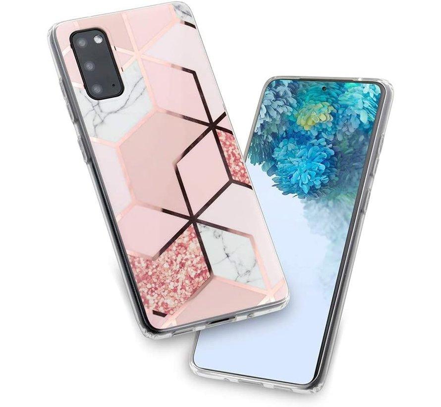 ShieldCase Samsung Galaxy S20 Plus hoesje marmeren patroon