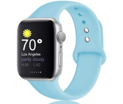 Apple Watch silicone sport band (aqua blauw)