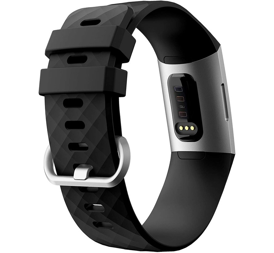 Fitbit Charge 4 silicone band (zwart)