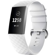 Fitbit Charge 4 silicone band (wit)
