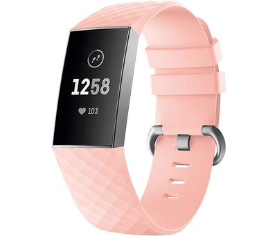 Fitbit Charge 4 silicone band (lichtroze)