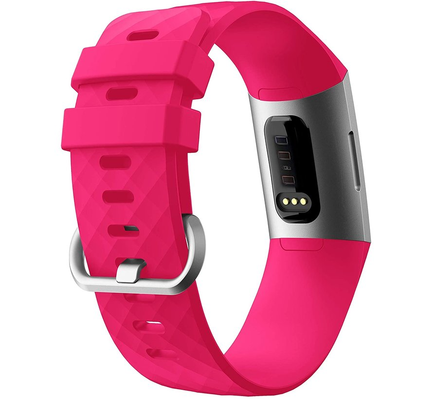 Fitbit Charge 4 silicone band (fel roze)
