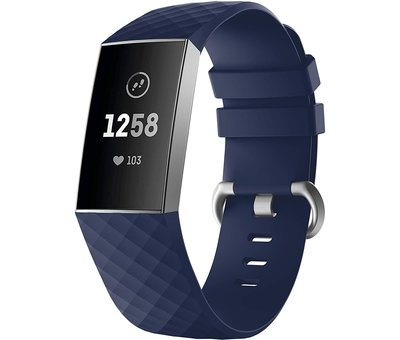 Fitbit Charge 4 silicone band (donkerblauw)