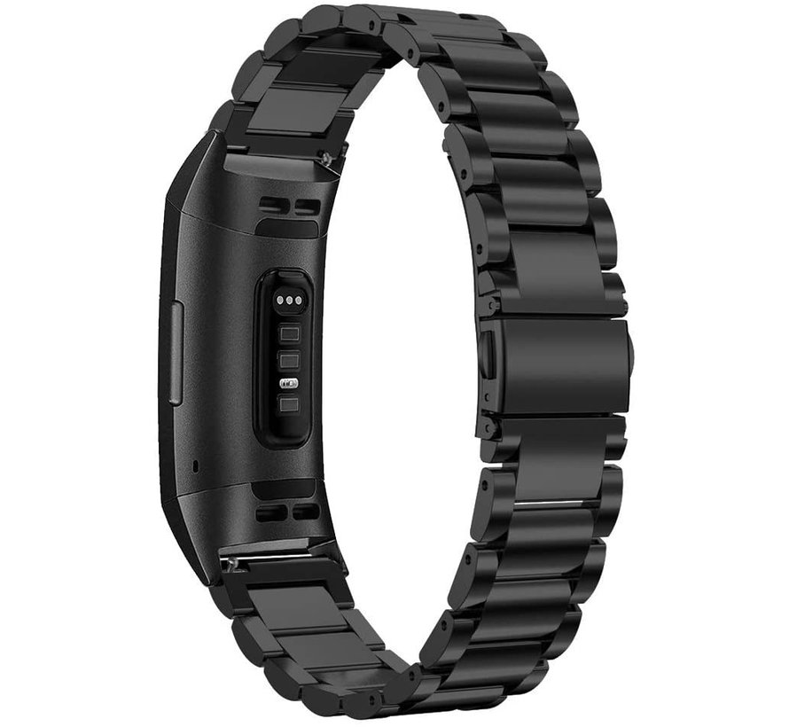 Fitbit Charge 4 stalen band (zwart)