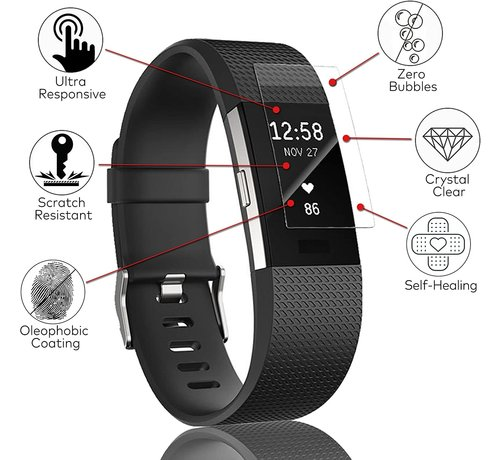 Fitbit Charge 4 screen protector plastic folie