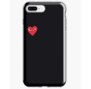 ShieldCase® Heart Eyes iPhone 8 Plus / 7 Plus hoesje (zwart)