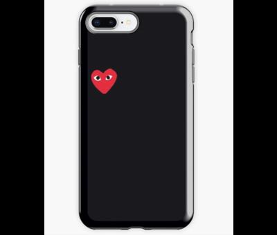 ShieldCase® ShieldCase Heart Eyes iPhone 8 Plus / 7 Plus hoesje (zwart)