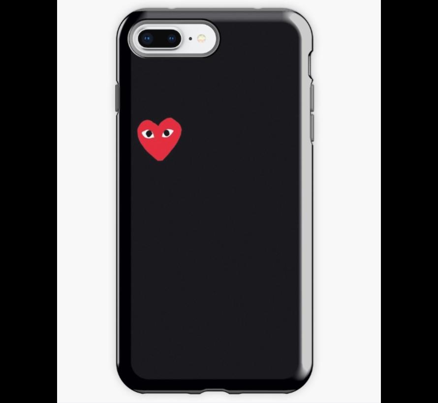 ShieldCase Heart Eyes iPhone 8 Plus / 7 Plus hoesje (zwart)