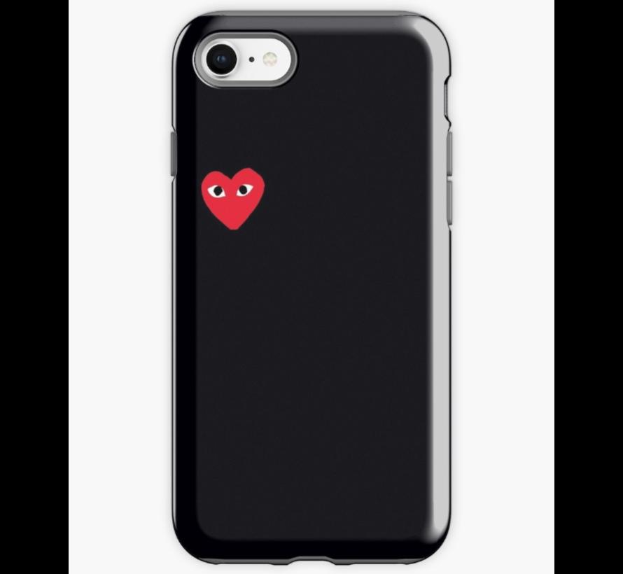 ShieldCase Heart Eyes iPhone 7/8 hoesje (zwart)