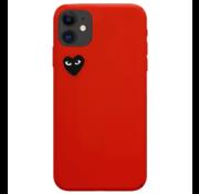 ShieldCase® Hoesje met hartje iphone 11 (rood)
