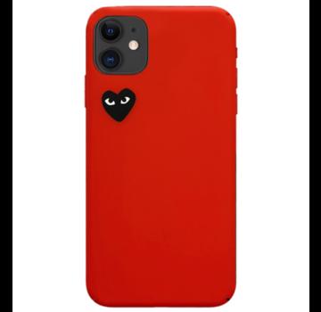 ShieldCase® Heart Eyes iPhone 11 hoesje (rood)