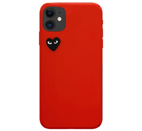 ShieldCase® Shieldcase Heart Eyes iPhone 11 hoesje (rood)