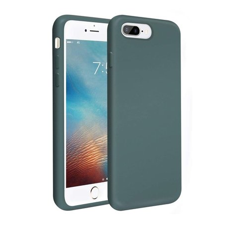 ShieldCase® Shieldcase Silicone case iPhone 8 Plus / 7 Plus (donkergroen)