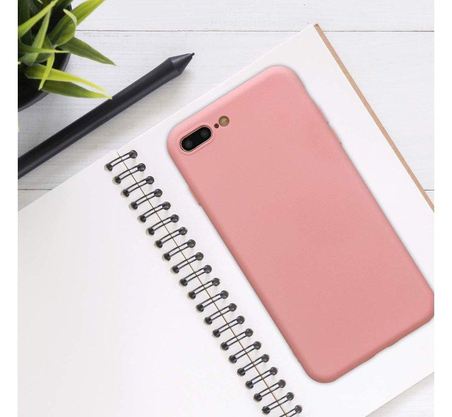 Shieldcase Siliconen hoesje met camera bescherming iPhone 7 Plus / 8 Plus (roze)