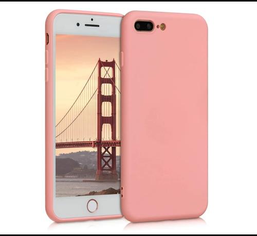 ShieldCase Shieldcase Siliconen hoesje met camera bescherming iPhone 7 Plus / 8 Plus (roze)