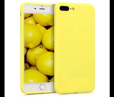 ShieldCase Shieldcase Siliconen hoesje met camera bescherming iPhone 7 Plus / 8 Plus (geel)