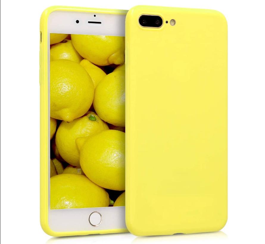 Shieldcase Siliconen hoesje met camera bescherming iPhone 7 Plus / 8 Plus (geel)