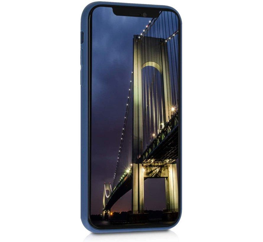 Shieldcase Siliconen hoesje met camera bescherming iPhone Xr (blauw)