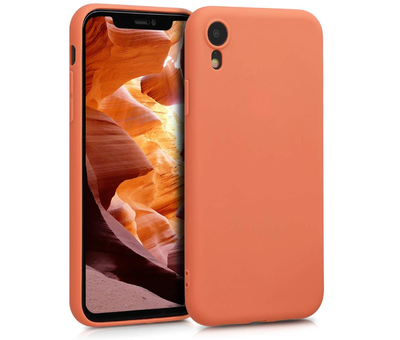 ShieldCase® Shieldcase Siliconen hoesje met camera bescherming iPhone Xr (oranje)