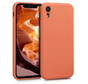 Shieldcase Siliconen hoesje met camera bescherming iPhone Xr (oranje)