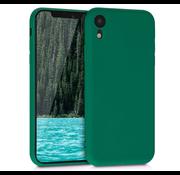 ShieldCase Siliconen hoesje met camera bescherming iPhone Xr (donkergroen)