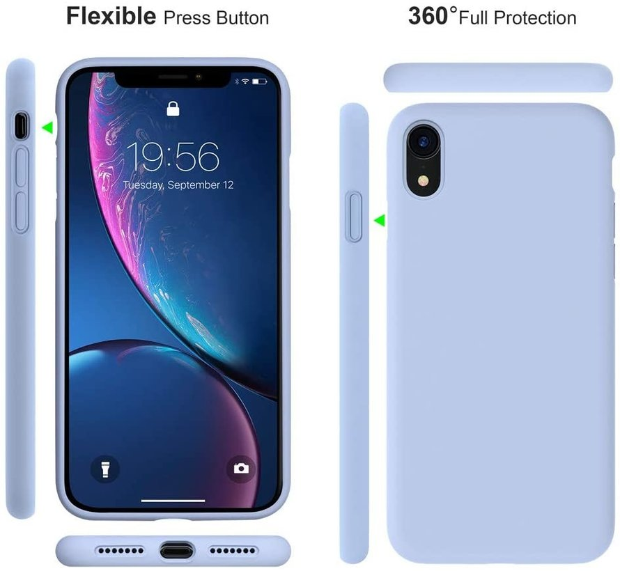 ShieldCase Silicone case iPhone Xr (paars)