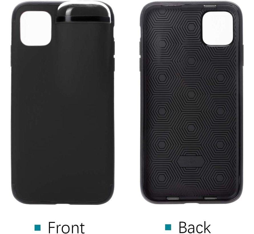 Shieldcase iPhone 11 Pro Max hoesje met Airpods houder (zwart)