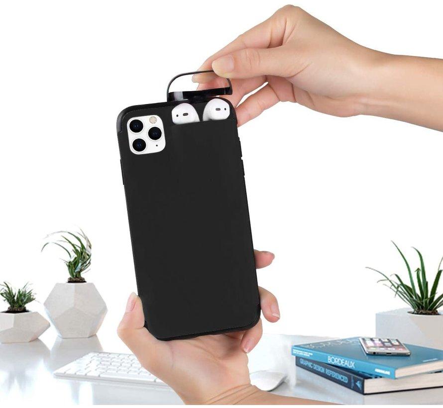 Shieldcase iPhone 11 hoesje met Airpods houder (zwart)