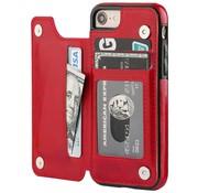 ShieldCase® iPhone SE 2020 wallet case (rood)