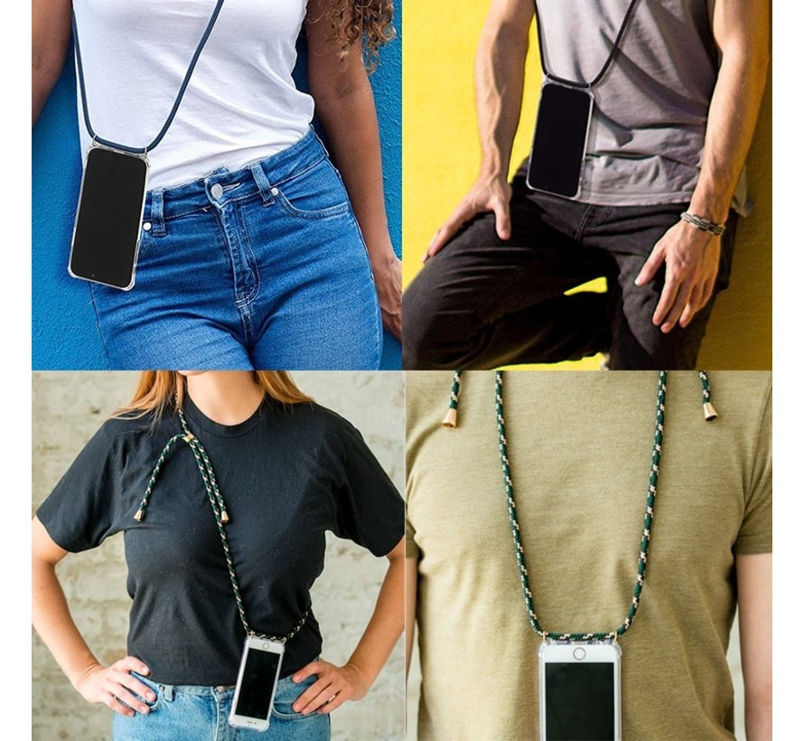 Shock hoesje met zwart koord iPhone SE 2020