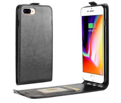 ShieldCase® ShieldCase iPhone SE 2020 Flip case (zwart leer)