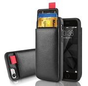 ShieldCase® Leren case met pashouder iPhone SE 2020