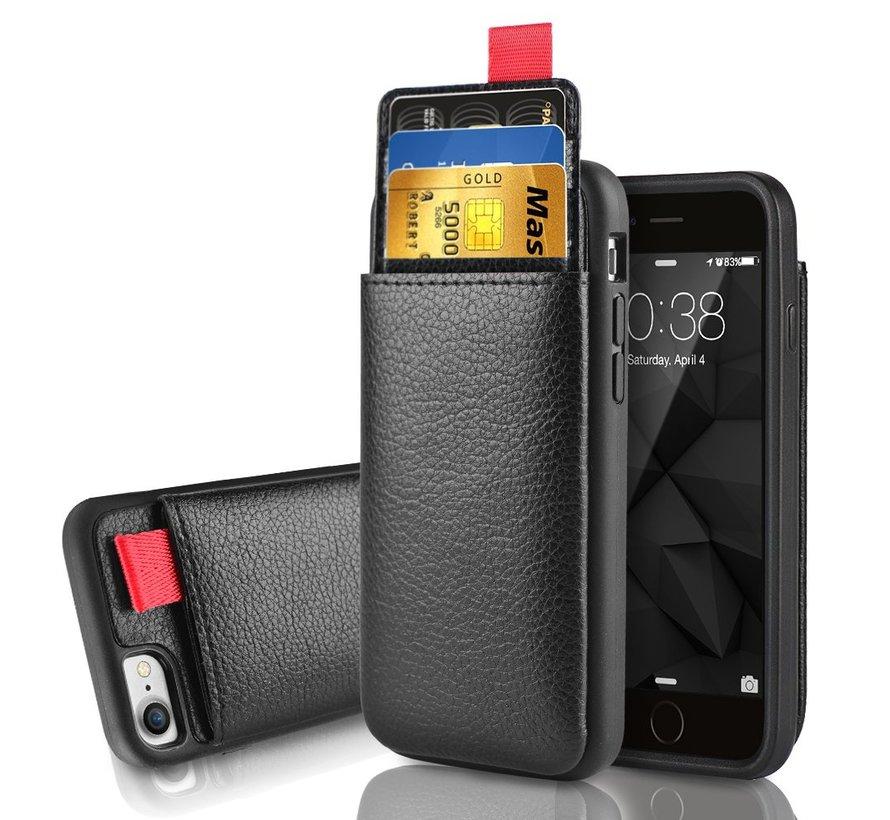 ShieldCase Leren case met pashouder iPhone SE 2020