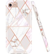ShieldCase® iPhone SE 2020 hoesje marmeren patroon