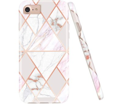 ShieldCase® ShieldCase iPhone SE 2020 hoesje marmeren patroon
