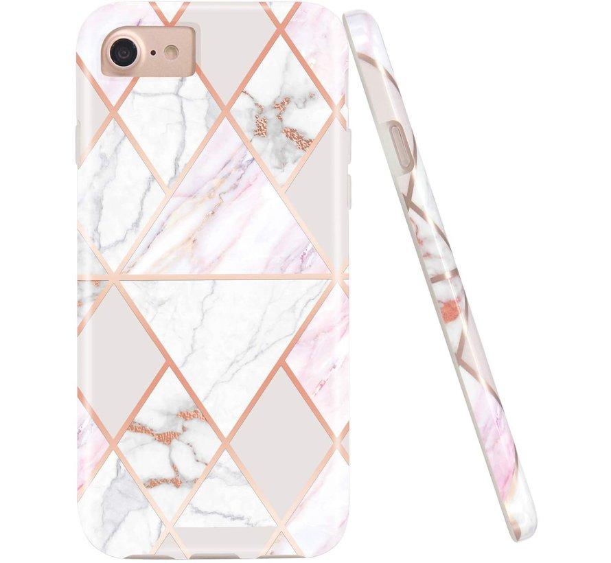 ShieldCase iPhone SE 2020 hoesje marmeren patroon