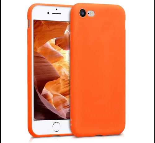 ShieldCase Shieldcase Siliconen hoesje met camera bescherming iPhone SE 2020 (oranje)
