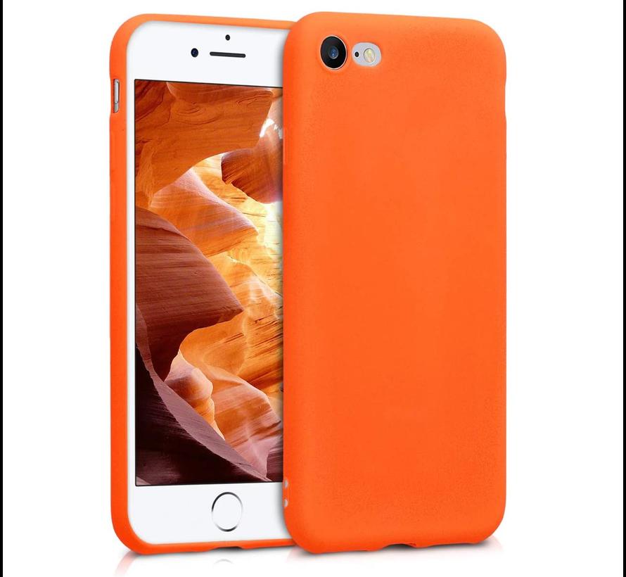 Shieldcase Siliconen hoesje met camera bescherming iPhone SE 2020 (oranje)