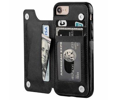 ShieldCase® ShieldCase iPhone SE 2020 wallet case (zwart)