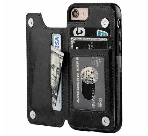 ShieldCase ShieldCase iPhone SE 2020 wallet case (zwart)