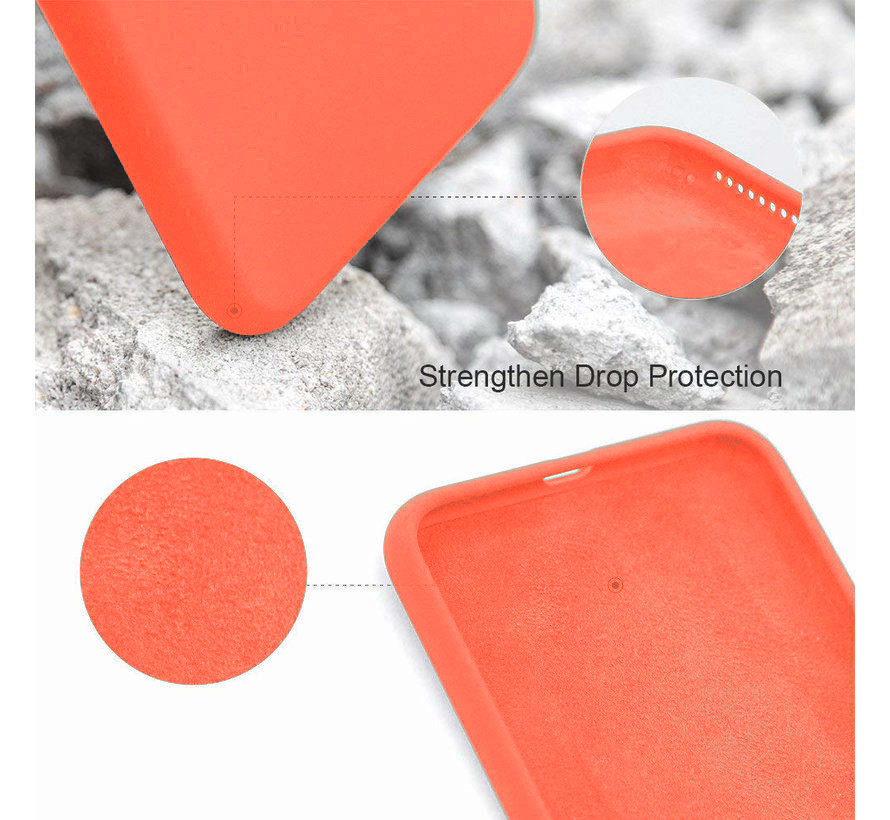 ShieldCase Silicone case iPhone 7 / 8  (oranje)