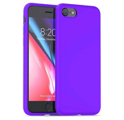 ShieldCase® Silicone case iPhone 7 / 8 (donkerpaars)